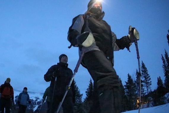 Evening Snowshoe Jaunt- Ski Ben Eoin