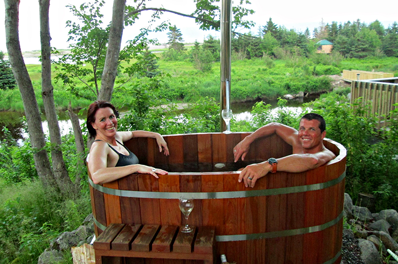 Honeymoon & Hot Tub Package at Cabot Shores