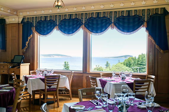 Purple Thistle Dining Room at the Keltic Lodge