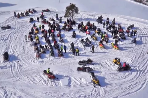 Telus Snowmobile Ride for Dad