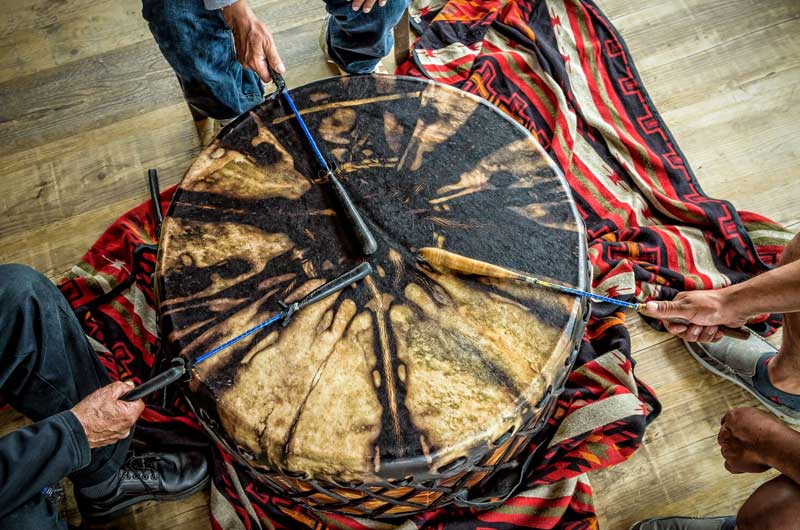 Traditional Mi'Kmaq Drumming and Dancing
